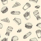 Vector fast food Royalty Free Stock Photography