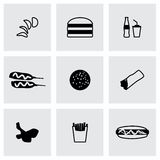 Vector Fast food icon set Stock Photos
