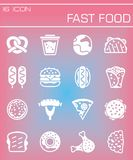 Vector Fast food icon set Stock Images