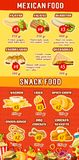 Vector fast food Mexican restaurant menu Royalty Free Stock Photo
