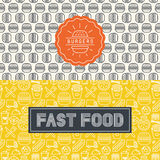Vector fast food package design elements Royalty Free Stock Photos