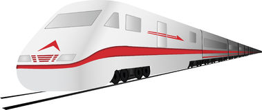 Vector Fast, high speed  train. Fast, high speed a train Royalty Free Stock Photos