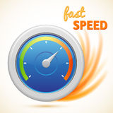 Vector fast speed symbol, speedometer isolated Stock Images
