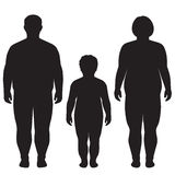 Vector fat body, weight loss, Royalty Free Stock Photos