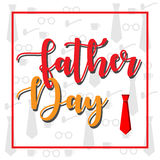 Vector father day with ornament tie. Vector image father day with ornament tie Royalty Free Stock Images
