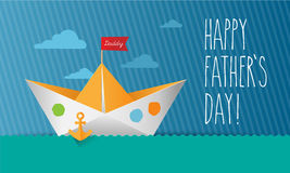 Vector - Father`s Day card Royalty Free Stock Photography