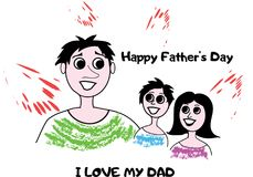 Happy father s day royalty free illustration