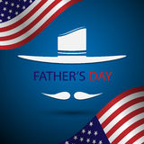 Vector fathers day and america flag background Royalty Free Stock Photo