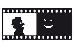 Vector fear filmstrip Stock Photo