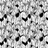 Vector Feather and Arrow Background Pattern - Seamless and Tileable. Repeating Pattern stock illustration