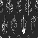 Vector feather background, tribal pattern Royalty Free Stock Photos