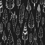 Vector feather background, tribal pattern Royalty Free Stock Photography