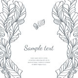 Vector feather hand-drawn illustration Royalty Free Stock Photos