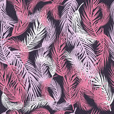 Vector Federhintergrund, Retro- Muster in den Pastellfarben Vector nahtloses Muster Stock Abbildung