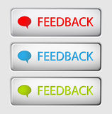 Vector Feedback buttons Royalty Free Stock Images