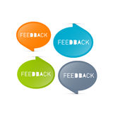 Vector Feedback Icons Royalty Free Stock Images