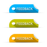 Vector Feedback Icons Set Stock Photography