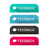 Vector Feedback Icons Set Stock Image