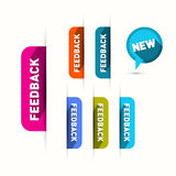 Vector Feedback and New Icons Set Stock Photography
