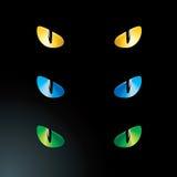 Vector feline eyes. Cat eyes feline night wild vector illustration