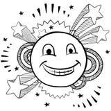 Vector feliz de la cara del estallido Fotografía de archivo libre de regalías
