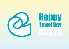 Vector feliz del día de la toalla Fotografía de archivo libre de regalías