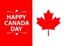 Vector feliz del diseño del día de Canadá Fotos de archivo