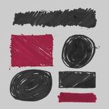 Vector felt pen stains. Element for your design. Business style set royalty free illustration