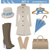 Vector Female Accessories Set 5 Royalty Free Stock Image