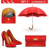 Vector Female Accessories Set 3 Royalty Free Stock Image