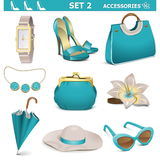 Vector Female Accessories Set 2 Royalty Free Stock Photo