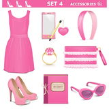 Vector Female Accessories Set 4 Stock Photography
