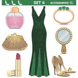 Vector Female Accessories Set 6 Royalty Free Stock Image