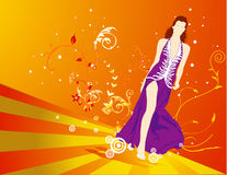 Vector female composition Royalty Free Stock Photo