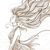 Vector female demon illustration Stock Image
