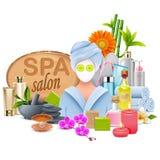 Vector Female SPA Salon Royalty Free Stock Image