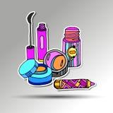 vector femenino del cepillo del encanto del diseño del maquillaje de la moda Fotos de archivo libres de regalías