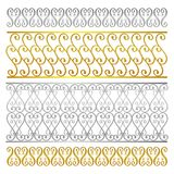 Vector fence damask abstract artistic pattern stock illustration