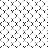 Vector fence steel netting seamless pattern Royalty Free Stock Photo