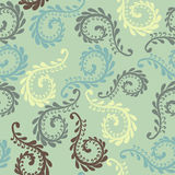 Vector fern seamless pattern. Floral design Royalty Free Stock Photo