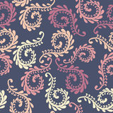 Vector fern seamless pattern. Floral design Royalty Free Stock Images