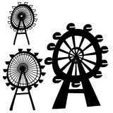 Vector Ferris Wheel Royalty Free Stock Photography
