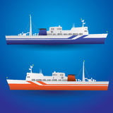Vector ferry ship Stock Photos