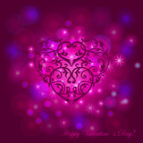 Vector festive background with heart. For design Stock Photos