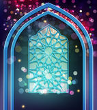 Vector festive background for the holiday of Ramadan Kariim. Win Stock Images
