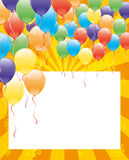 Vector festive banner. Balloons. Stock Image