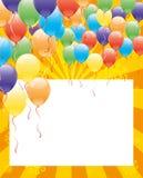 Vector festive banner. Balloons. Vector festive banner for your text. Balloons Stock Image