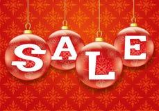 Vector festive banner. Sale. Vector red festive banner. Sale. Christmas concept Stock Images