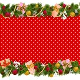 Vector Festive Christmas Background. Isolated on white background Royalty Free Stock Photography
