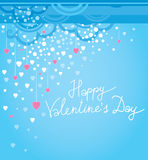 Vector festive decoration cards for Valentines Day Stock Image